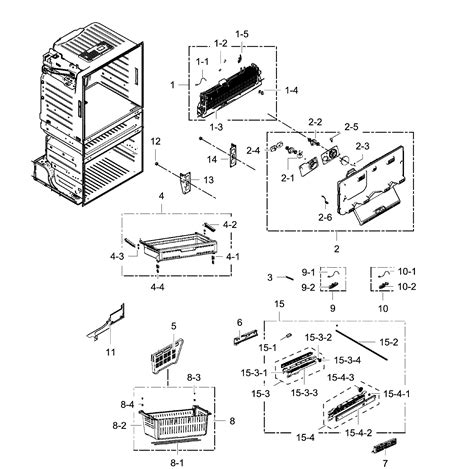 samsung refrigerator maker parts diagram samsung refrigerator parts model rf25hmedbsraa0000