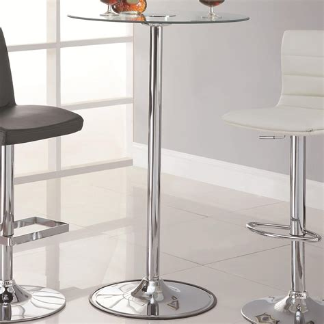 Glass Bar Table Coaster 122400 Silver Glass Bar Table A Sofa Furniture Outlet Los Angeles Ca