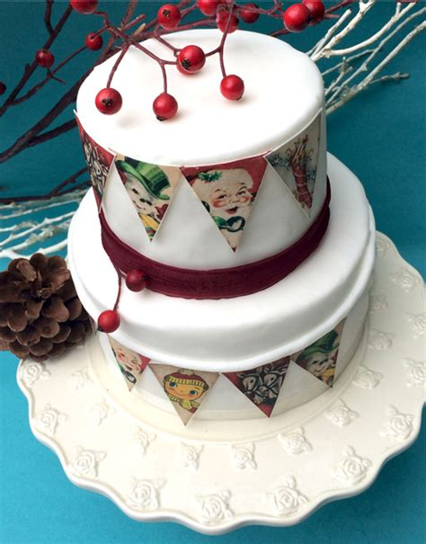 How Make Cake Decorations by Retro Cake Bunting Edible Gift Shop
