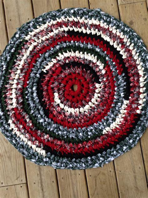 lumberjack rug crochet 32 rag rug cotton washable