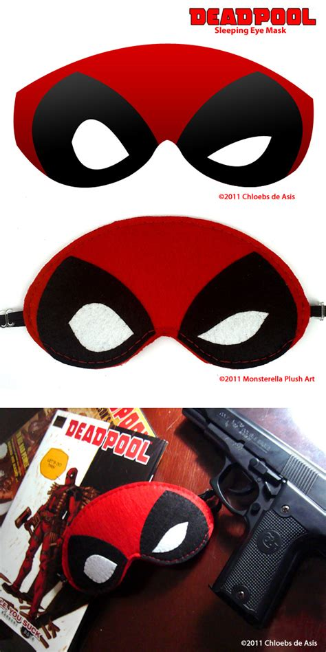 deadpool mask template deadpool sleeping eye mask by chloebs on deviantart