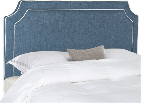 Denim Headboard by Safavieh Dane Denim Blue And White Piping Headboard