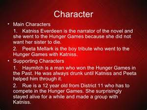 Book Report For Hunger Games Gallery For Gt Hunger Games Book 1 Characters