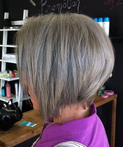 angled bobs for older women 50 gorgeous hairstyles for gray hair