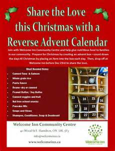 support welcome inn with a reverse advent calendar the