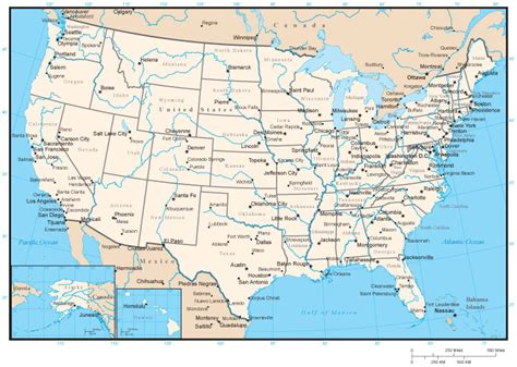 map of usa with states marked us map with cities and rivers www proteckmachinery