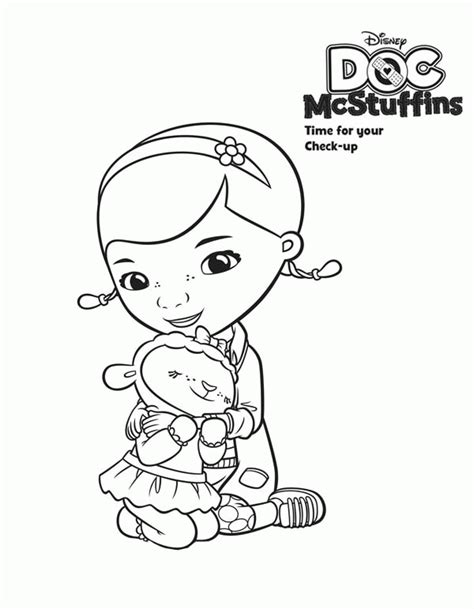 coloring pages of doc mcstuffins doc mcstuffins lambie coloring pages coloring home