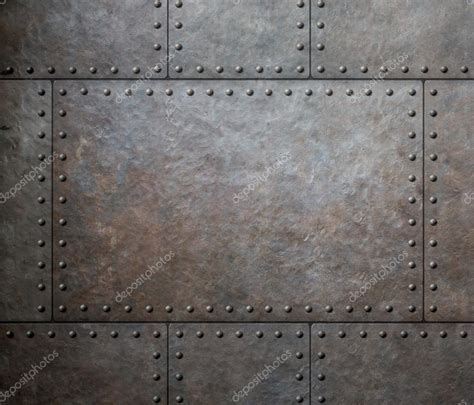 with metal metal texture with rivets as steam background or