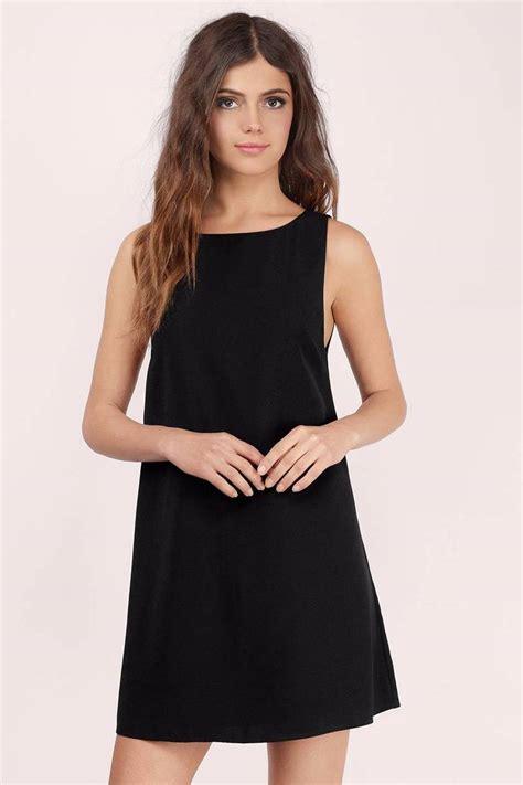 Id 847 Open Back Shift Dress black shift dress black dress open back dress 48 00