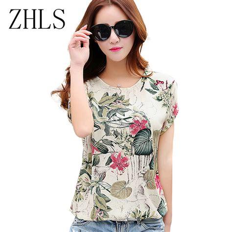Jfashion Korean Style Blouse Print Take Me To aliexpress buy floral print s blouses shirts summer tops casual plus size