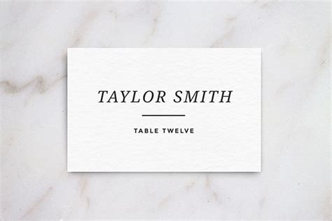 Name Card Template Wedding Tables name card templates 18 free printable word pdf psd