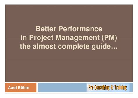 better perform better performance in project management the almost