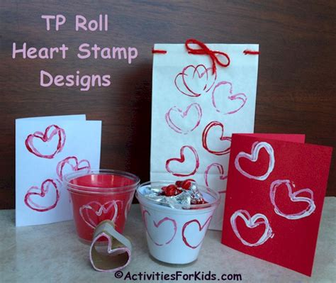 Christmas Home Decorating Ideas Pictures by Toilet Paper Roll Heart Stamp