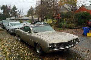 parked cars 1971 ford torino 500