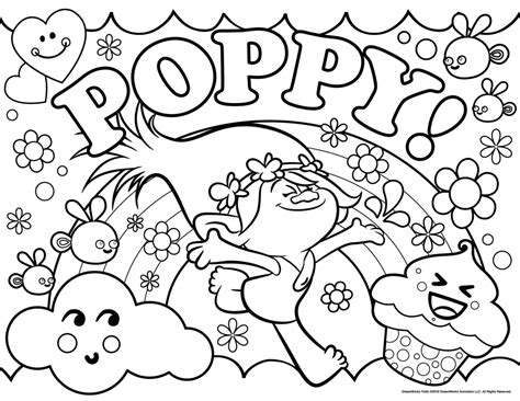 free printable coloring pages with trolls coloring pages best coloring pages for