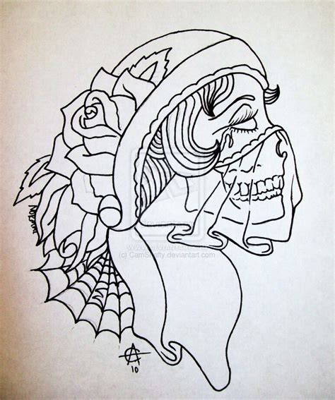 girlfriend tattoo designs sugar skull outline www pixshark