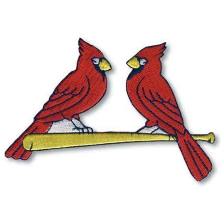 st louis cardinals red birds on bat logo patch je