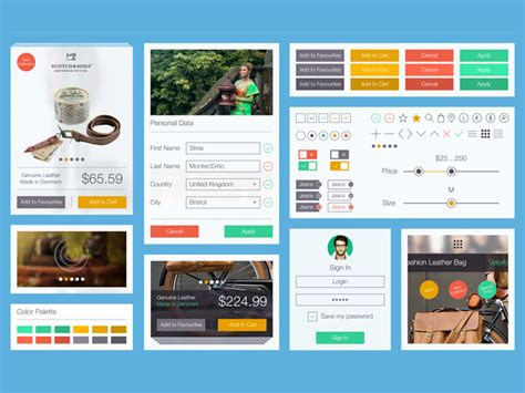 ui onlin 50 free flat ui kits to speed up your workflow