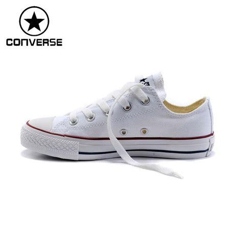Converse Classic Low Biru Denim Unisex 1 original converse classic unisex canvas skateboarding shoes low top sneakser free shipping in