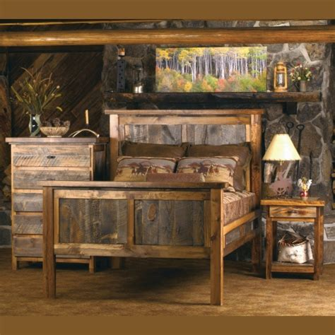 wasatch reclaimed barnwood bedroom set