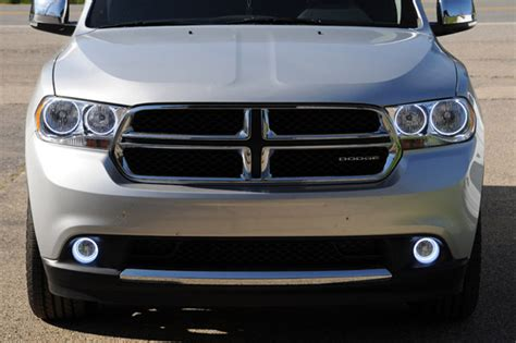 2011 dodge durango led tail lights oracle color changing halo headlight and foglight light