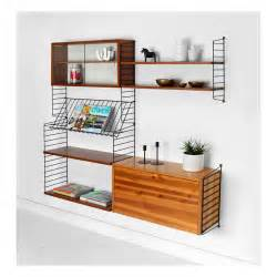 items similar to vintage string shelving unit wall mid century modern nils strinning