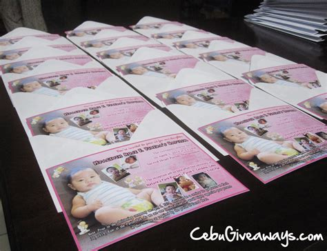 Baptismal Giveaways Davao City - balloons and giveaways cebu city party invitations ideas
