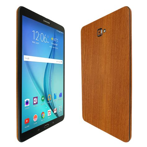 skinomi techskin samsung galaxy tab a 10 1 2016 sm t580 non s pen light wood skin protector
