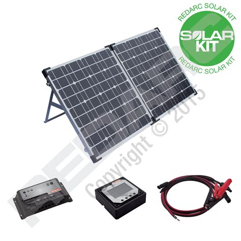 portable solar panel kits for home 90w monocrystalline portable folding solar panel kit redarc electronics