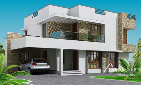 modern kerala home design at 2300 sq ft