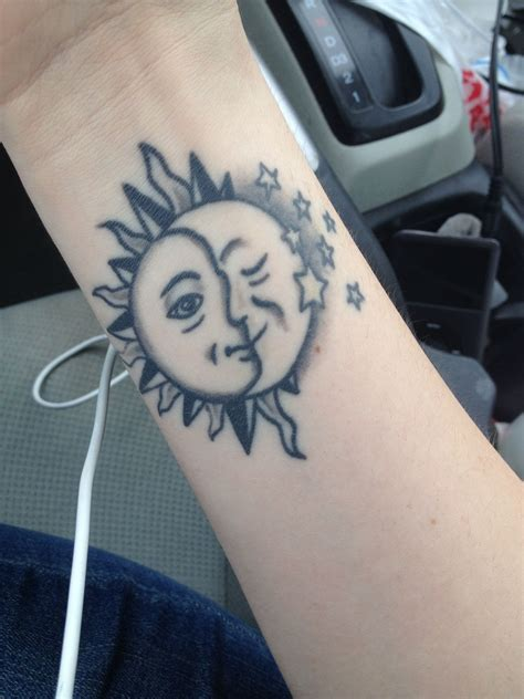 change tattoo sun moon i d change a things and add some