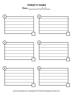 Blank To Do List Printable Tim S Printables Task List Template Pdf