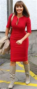 how should a 50 year old man dress for summer carol vorderman steps out in a figure hugging red dress