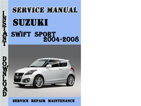 suzuki car service manual pdf ancrookp suzuki swift sport 2004 2008 service repair manual pdf download