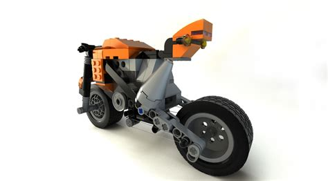 Lego Bike 1 lego motorcycle 3d model obj fbx ma mb cgtrader