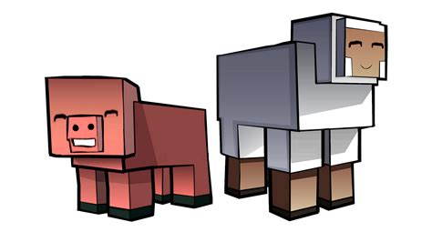 Logo Toaster Minecraft Pig And Sheep By Enr1 On Deviantart