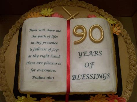 Bible Quotes For Birthday Celebrations 90th Birthday Cakecentral Com