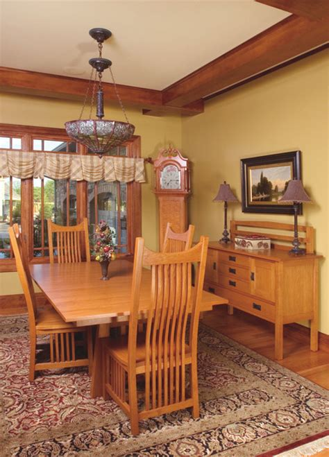 Craftsman Style Dining Room Furniture Mission Style Cherry Dining Room Furniture Craftsman Dining Sets Cleveland By Schrocks