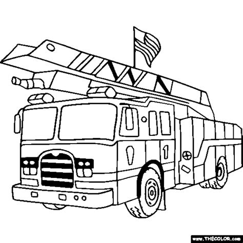 ladder truck coloring page 100 free truck coloring pages color in this picture of a