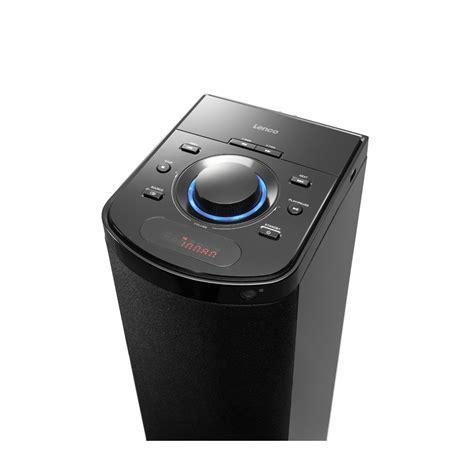 lenco btt 1 speaker tower with bluetooth pll fm radio and