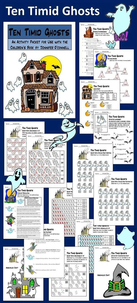 ten timid ghosts 17 best images about halloween language arts ideas on halloween fun literacy