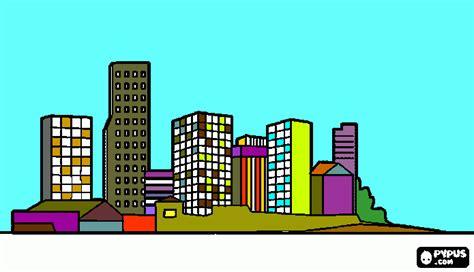imagenes urbanas para dibujar paisaje urbano para colorear paisaje urbano para imprimir