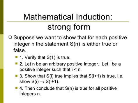 principle of induction proof strong form of principle of induction 28 images discrete mathematics strong mathematical