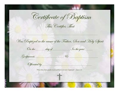 christian baptism certificate template 20 best baptism images on certificate