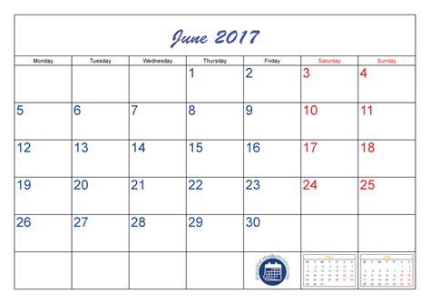 Calendar June 2017 June Calendar 2017 Printable Printable 2017 Calendar