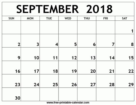 printable calendar sept 2018 september 2018 calendar printable printable 2018