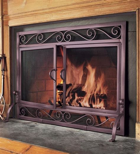 plow and hearth iron fireplace screens