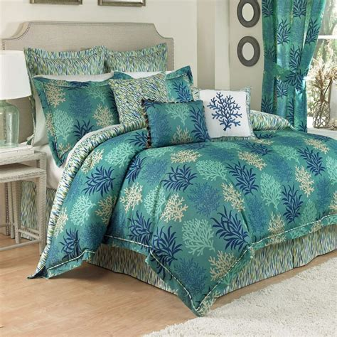 coastal bedding sets breezy atmosphere in bedroom with 3 coastal bedding