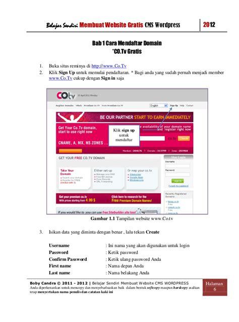 membuat website cms sendiri cara membuat website gratis
