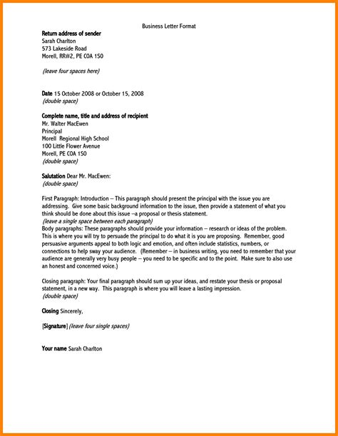 Business Letter Template Grade 5 formal letter for grade 5 letters free sle letters
